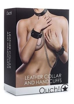 Ouch Leather Handcuffs Collar