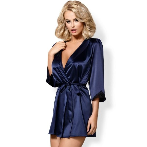 Satinia Robe Blue